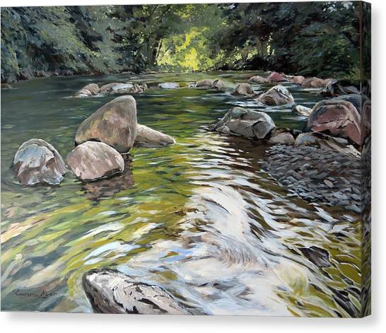 East Okement River Canvas Print