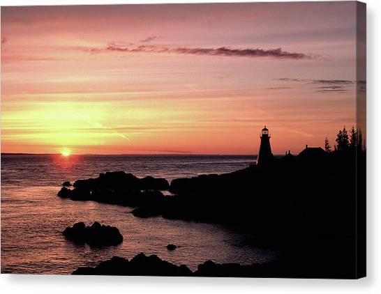 East Quoddy Head Sunup Canvas Print