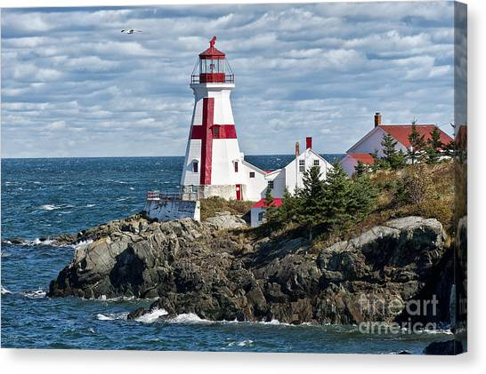 New Brunswick Canvas Print - East Quoddy Lighthouse by John Greim