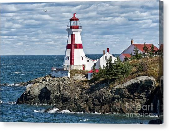 New Brunswick Canvas Print - East Quoddy Lighthouse by John Greim