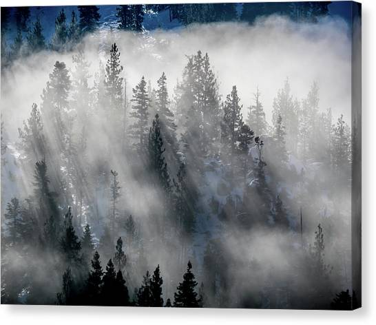 East Shore Inversion, Lake Tahoe Canvas Print