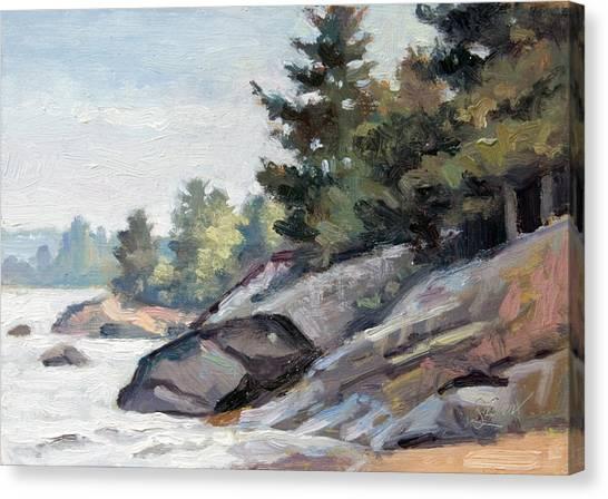 East Shore Surf'n Turf Canvas Print by Larry Seiler