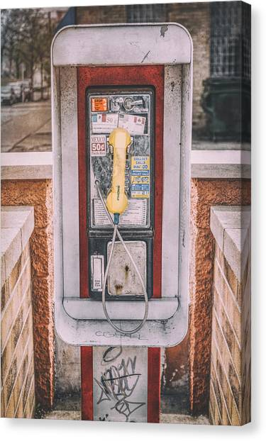 Coins Canvas Print - East Side Pay Phone by Scott Norris