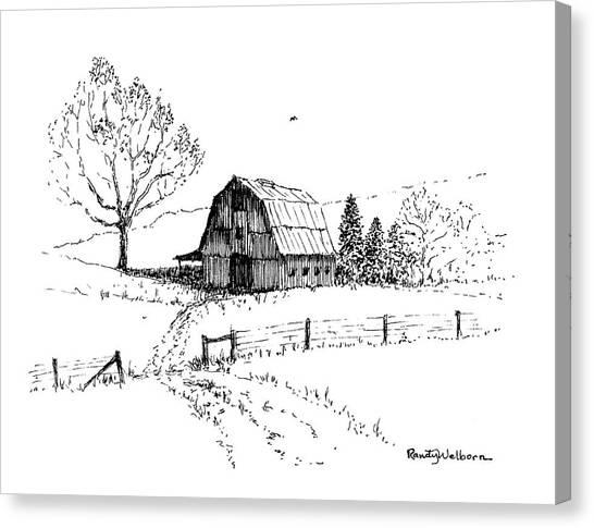 East Texas Hay Barn Canvas Print