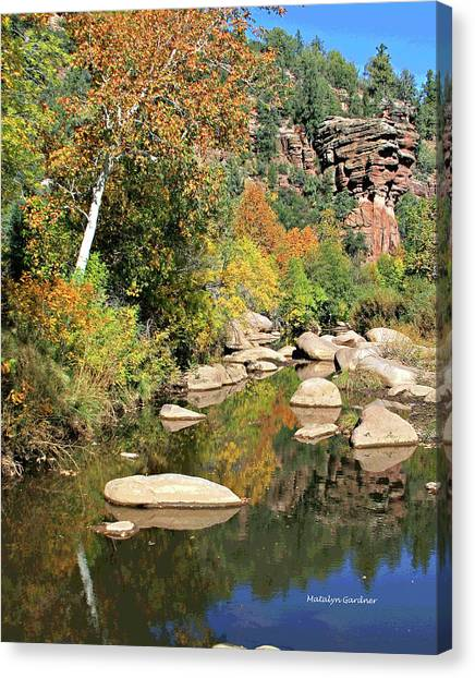 East Verde Fall Crossing Canvas Print