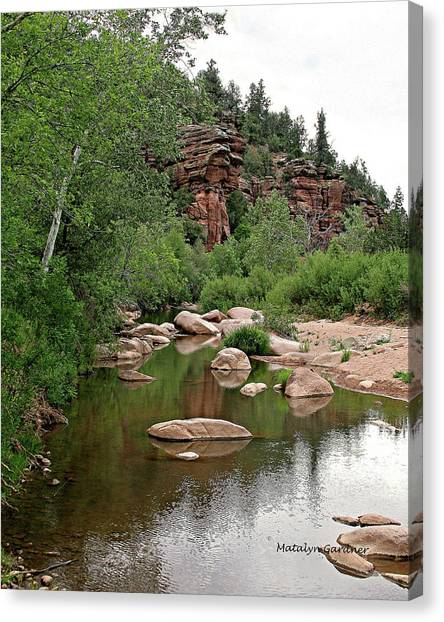 East Verde Spring Crossing Canvas Print