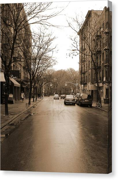 East Village In Winter Canvas Print