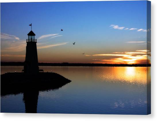 East Warf Sunset Canvas Print
