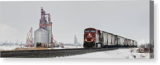 Eastbound Empties Canvas Print