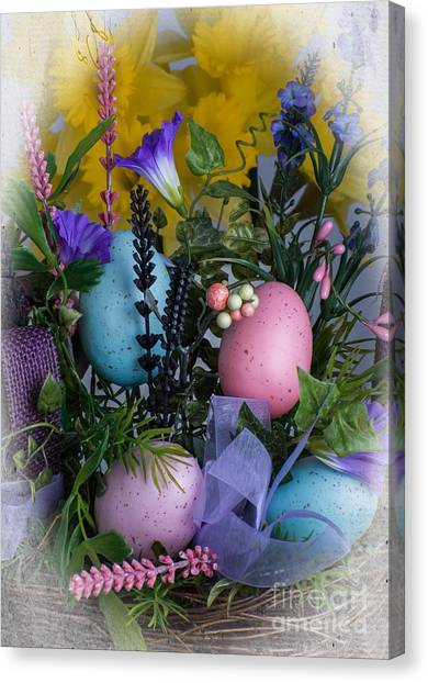 Canvas Print featuring the photograph Easter Basket by Michael Moriarty