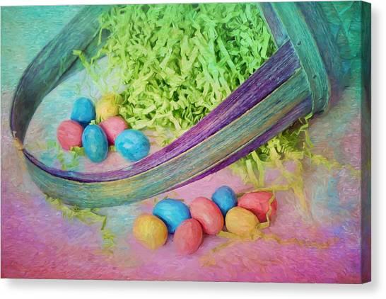 Easter Baskets Canvas Print - Easter Basket by Nikolyn McDonald
