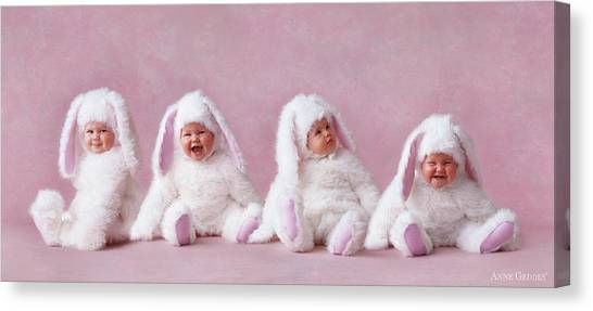 Easter Canvas Print - Easter Bunnies by Anne Geddes