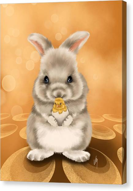 Easter Bunny Canvas Print - Easter Bunny by Veronica Minozzi