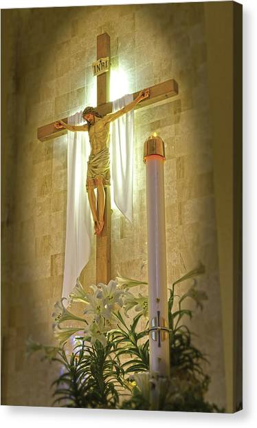 Easter Candle Canvas Print by Don Wolf