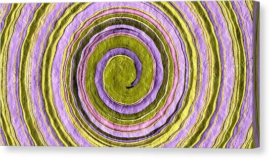 Easter Egg Swirl Canvas Print by Terry Mulligan