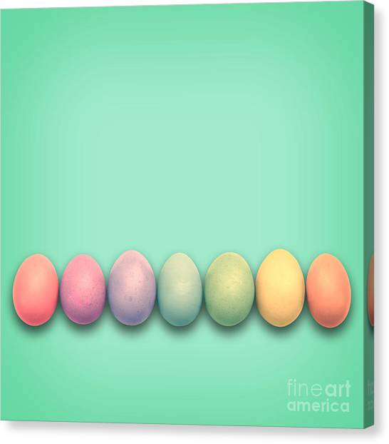 Easter Eggs Canvas Print - Easter Eggs, Green by Delphimages Photo Creations