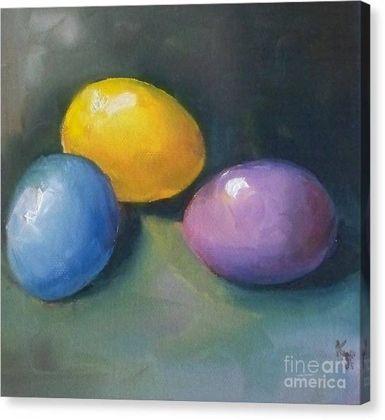 Easter Baskets Canvas Print - Easter Eggs No. 1 by Kristine Kainer