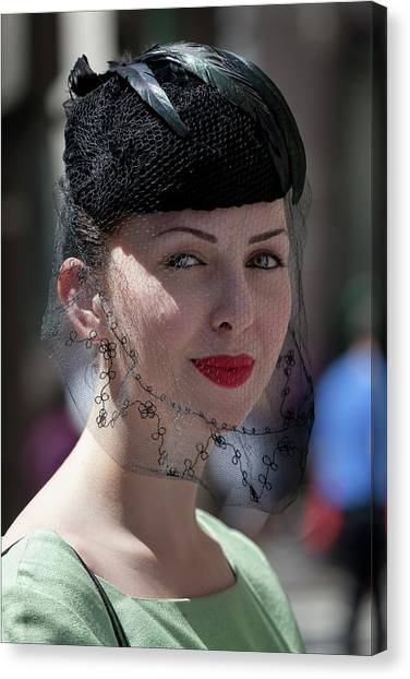 Easter Parade 2011 Hat And Veil Canvas Print