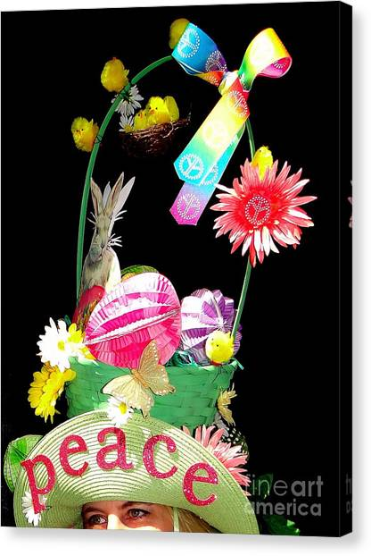 Easter Baskets Canvas Print - Easter Peace by Ed Weidman