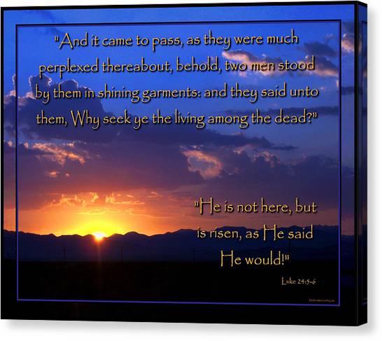 Easter Sunrise - He Is Risen Canvas Print