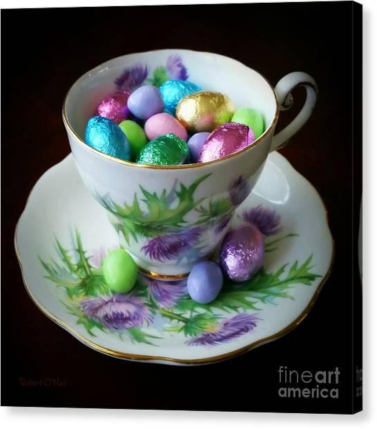 Easter Teacup Canvas Print