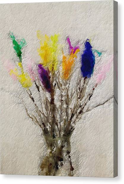 Swedish Canvas Print - Easter Tree- Abstract Art By Linda Woods by Linda Woods