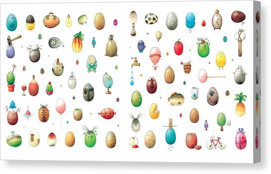 Eastereggs Canvas Print by Kestutis Kasparavicius