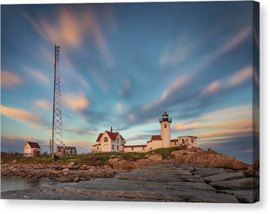 Eastern Point Lighthouse At Sunset Canvas Print