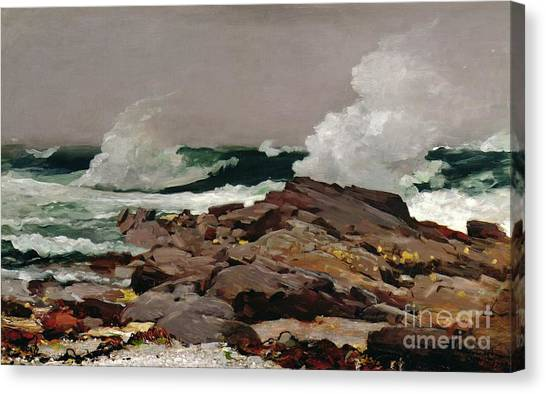 1900 Canvas Print - Eastern Point by Winslow Homer