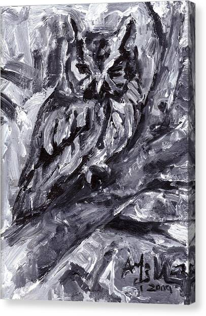 Eastern Screech-owl Canvas Print