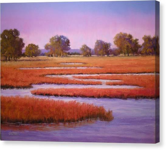 Eastern Shore Marsh Canvas Print by Paula Ann Ford