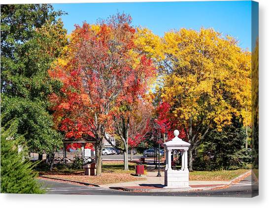 Easthampton Center In The Fall Canvas Print