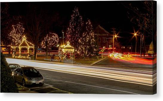 Easthampton Light Trails Canvas Print
