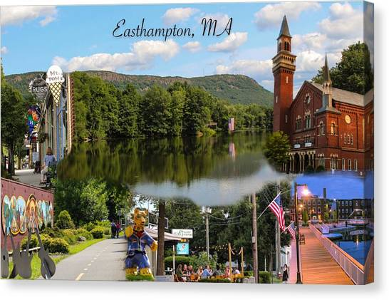 Easthampton Ma Collage Canvas Print