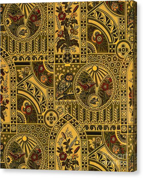 Eastlake Gilt Victorian Tapestry With Owl Canvas Print