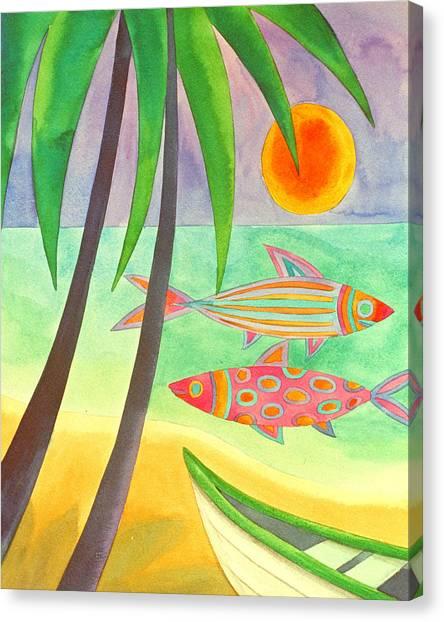 Easy Catch Canvas Print by Jennifer Baird