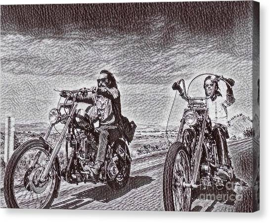 Dennis Hopper Canvas Print - Easy Rider Drawing by Pd