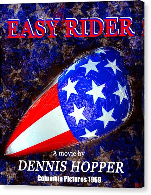 Dennis Hopper Canvas Print - Easy Rider Movie Poster A by David Lee Thompson