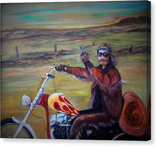 Dennis Hopper Canvas Print - Easy Rider The End by Marvin Pike