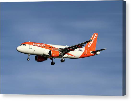Jets Canvas Print - Easyjet Airbus A320-214 by Smart Aviation