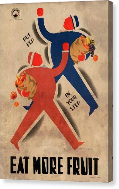 Eat More Fruit - Vintage Poster Vintagelized Canvas Print