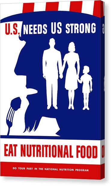 Medicine Canvas Print - Uncle Sam - Eat Nutritional Food by War Is Hell Store
