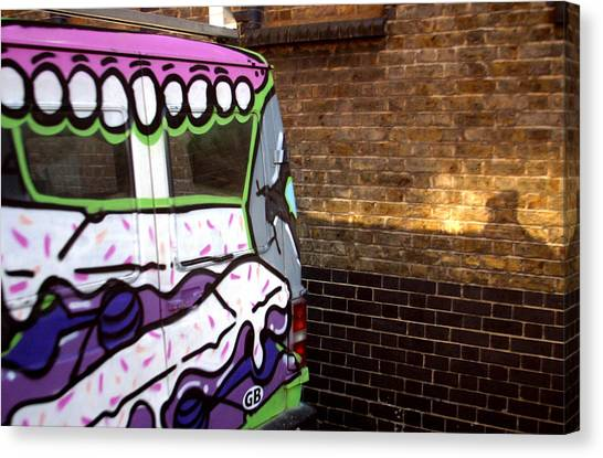 Eat That Wall Canvas Print by Jez C Self