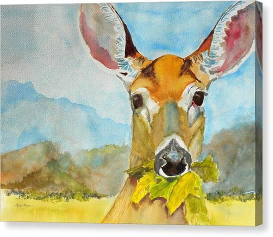 Eat Your Greens Canvas Print by Kris Dixon