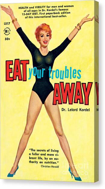 Eat Your Troubles Away Canvas Print