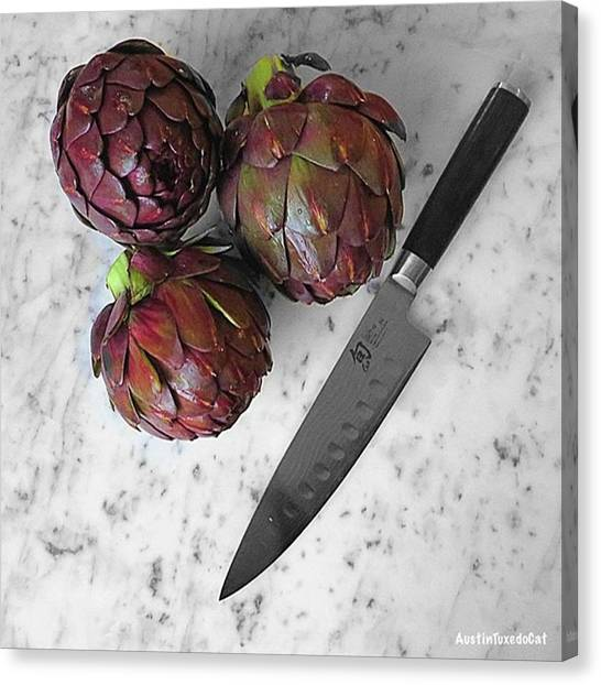 Artichoke Canvas Print - Eat Your #veggies. And Yes, These by Austin Tuxedo Cat