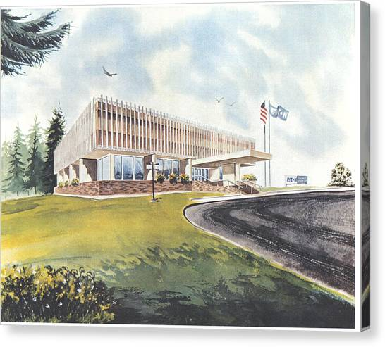 Eaton Corp Administration Building Canvas Print