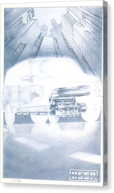 Eaton Electric Van Canvas Print