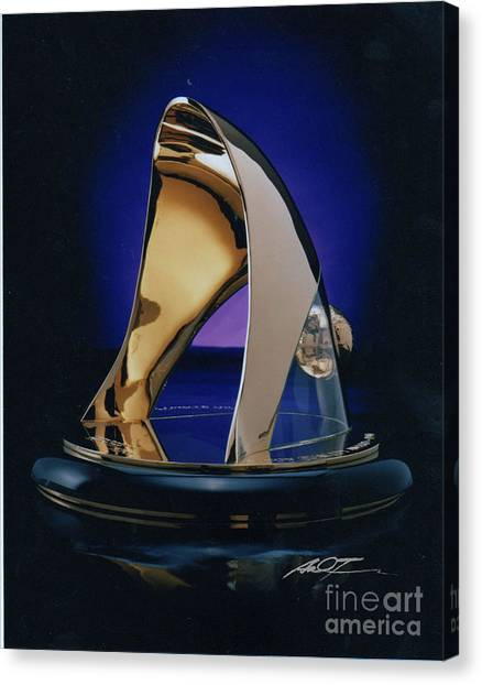 Eaton Quality Award Sculpture  Canvas Print