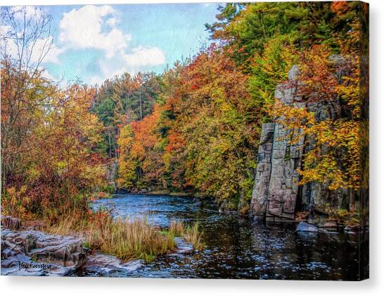 Eau Claire Dells Fall 2 Canvas Print